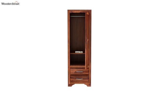 Carlton 1 Door Multi-Utility Wardrobe (Honey Finish)-5