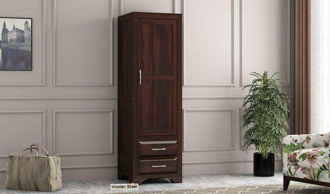 Carlton 1 Door Multi-Utility Wardrobe (Walnut Finish)-1