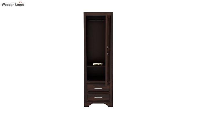 Carlton 1 Door Multi-Utility Wardrobe (Walnut Finish)-5