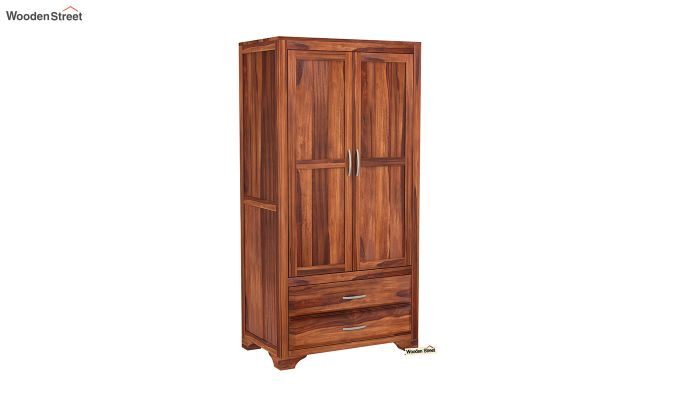 Carlton 2 Door Multi-Utility Wardrobe (Honey Finish)-2