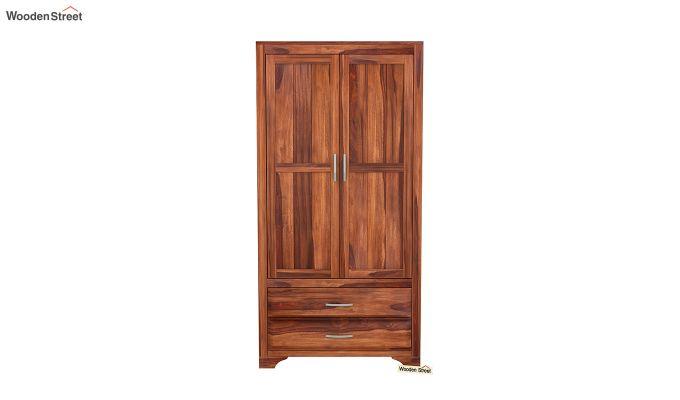 Carlton 2 Door Multi-Utility Wardrobe (Honey Finish)-3