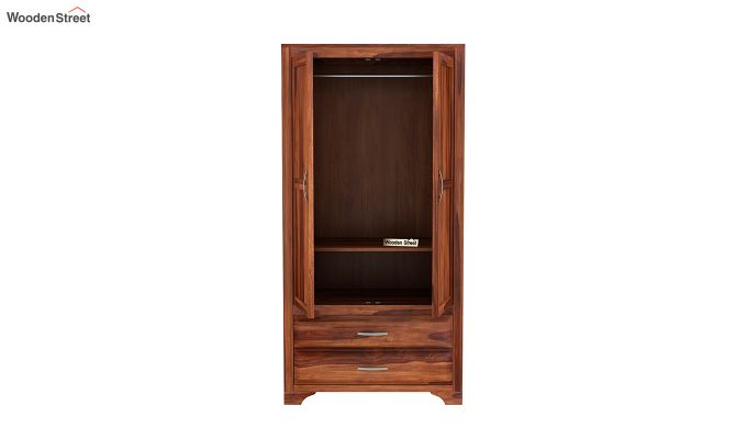 Carlton 2 Door Multi-Utility Wardrobe (Honey Finish)-5
