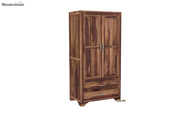 Carlton 2 Door Multi-Utility Wardrobe (Teak Finish)-2