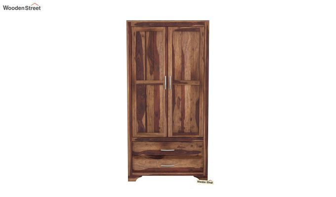 Carlton 2 Door Multi-Utility Wardrobe (Teak Finish)-3
