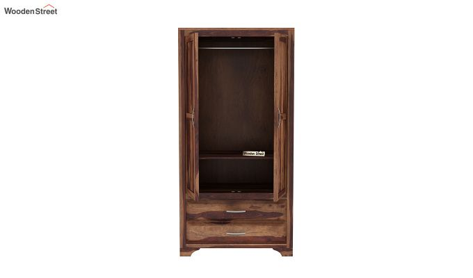 Carlton 2 Door Multi-Utility Wardrobe (Teak Finish)-5