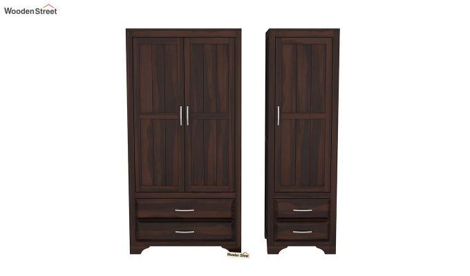 Carlton 3 Door Multi-Utility Wardrobe (Walnut Finish)-5