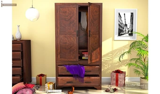 Carlton Multi-Utility Wardrobe (Walnut Finish)-1