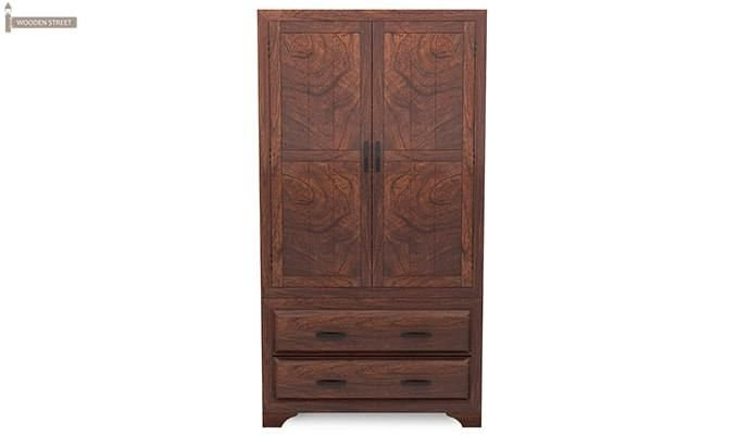 Carlton Multi-Utility Wardrobe (Walnut Finish)-3