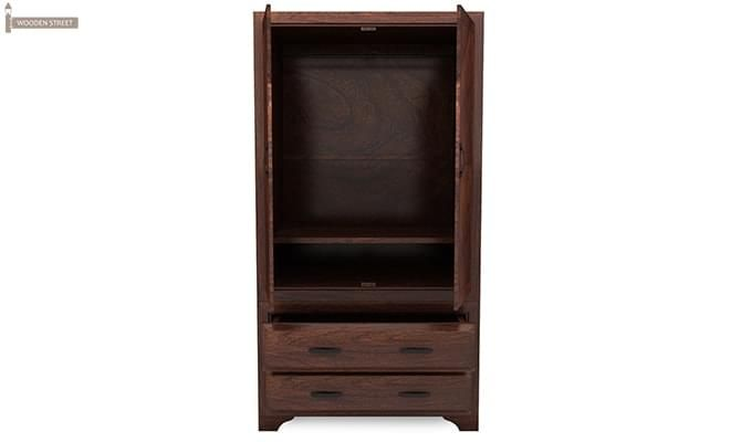 Carlton Multi-Utility Wardrobe (Walnut Finish)-5