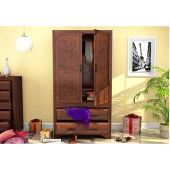 Carlton Multi-Utility Wardrobe (Walnut Finish)