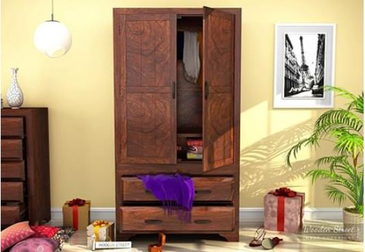 wooden wardrobe online India, almirah designs