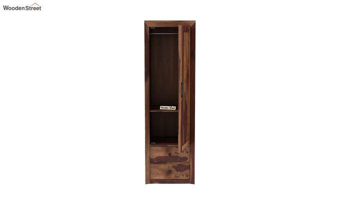 Carvel 1 Door Multi-Utility Wardrobe (Teak Finish)-5