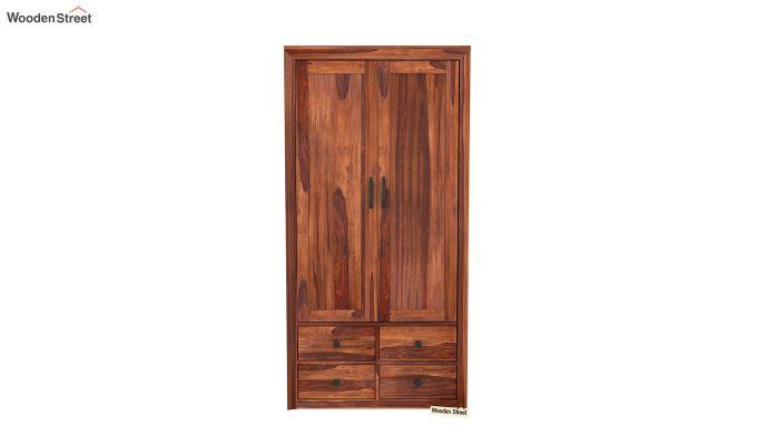 Carvel 2 Door Multi-Utility Wardrobe (Honey Finish)-3