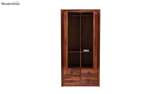 Carvel 2 Door Multi-Utility Wardrobe (Honey Finish)-5