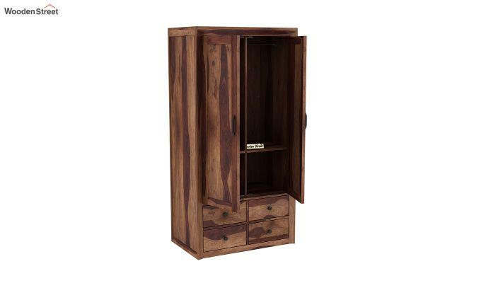 Carvel 2 Door Multi-Utility Wardrobe (Teak Finish)-4