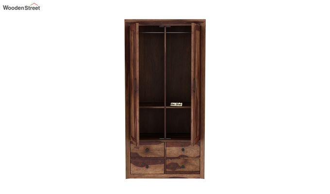 Carvel 2 Door Multi-Utility Wardrobe (Teak Finish)-5