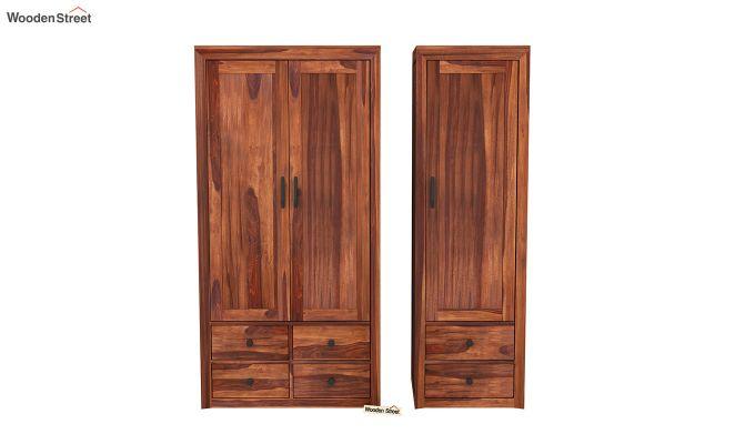 Carvel 3 Door Multi-Utility Wardrobe (Honey Finish)-5