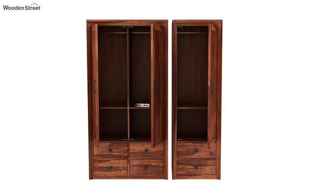 Carvel 3 Door Multi-Utility Wardrobe (Honey Finish)-7