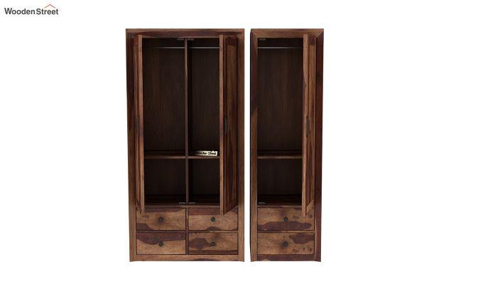 Carvel 3 Door Multi-Utility Wardrobe (Teak Finish)-7