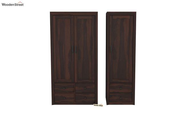 Carvel 3 Door Multi-Utility Wardrobe (Walnut Finish)-5