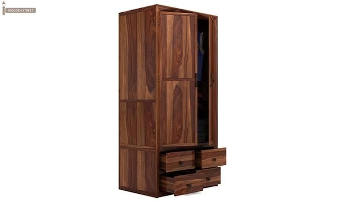 Carvel Multi-Utility Wardrobe (Teak Finish)-5