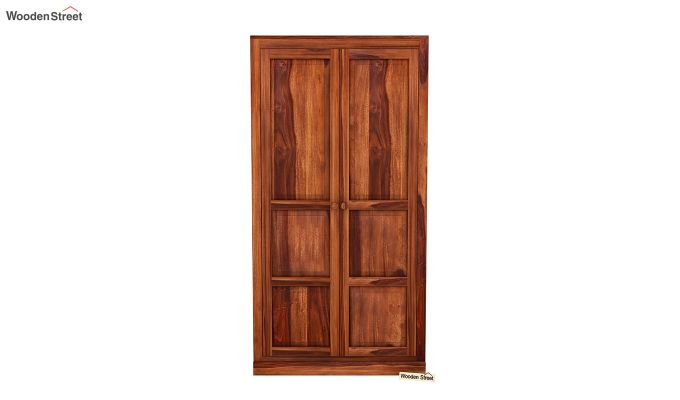 Charles 2 Door Multi Utility Wardrobe (Honey Finish)-3
