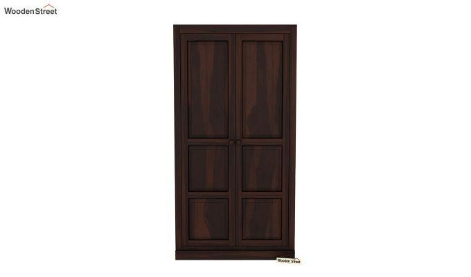 Charles 2 Door Multi Utility Wardrobe (Walnut Finish)-3