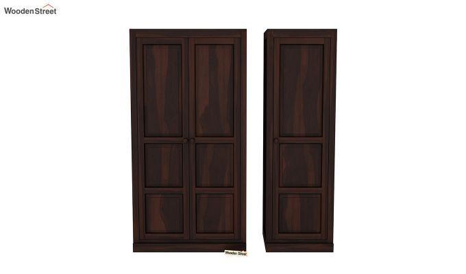 Charles 3 Door Multi Utility Wardrobe (Walnut Finish)-5