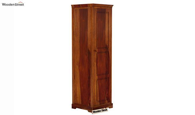 Charles 1 Door Multi Utility Wardrobe (Honey Finish)-1