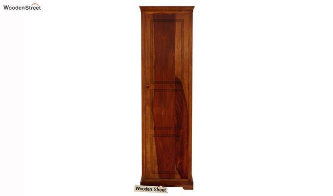 Charles 1 Door Multi Utility Wardrobe (Honey Finish)-3