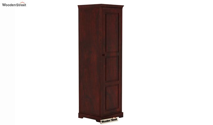 Charles 1 Door Multi Utility Wardrobe (Mahogany Finish)-1