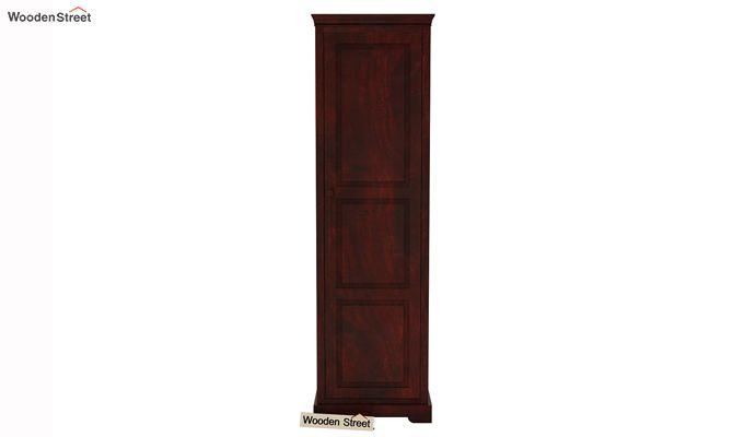 Charles 1 Door Multi Utility Wardrobe (Mahogany Finish)-3
