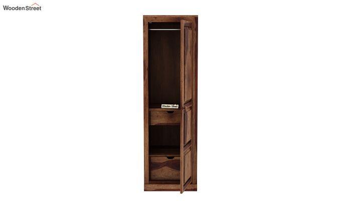 Charles 1 Door Multi Utility Wardrobe (Teak Finish)-5