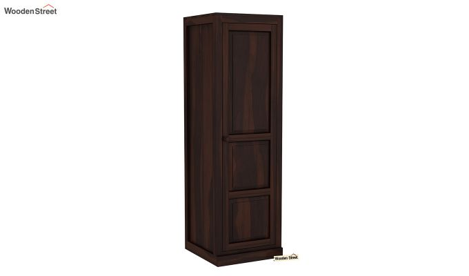Charles 1 Door Multi Utility Wardrobe (Walnut Finish)-2
