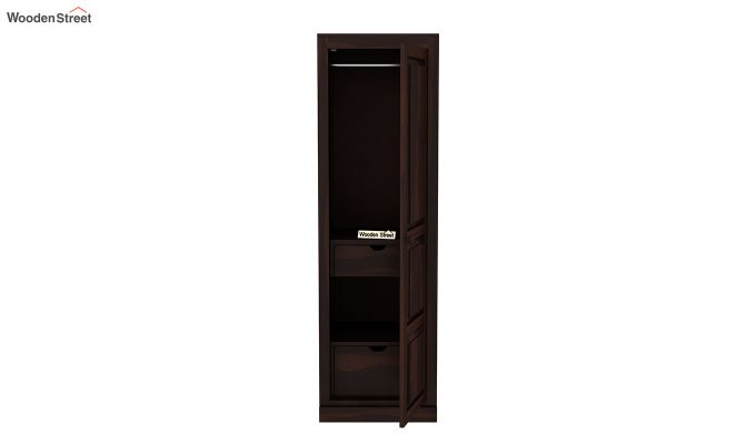 Charles 1 Door Multi Utility Wardrobe (Walnut Finish)-5