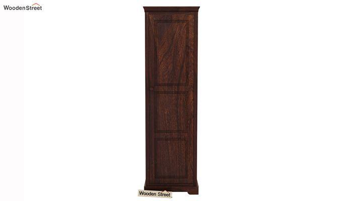 Charles 1 Door Multi Utility Wardrobe (Walnut Finish)-4