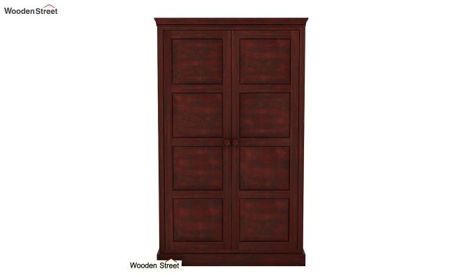 Charles Medium Size Wardrobe (Mahogany Finish)-3