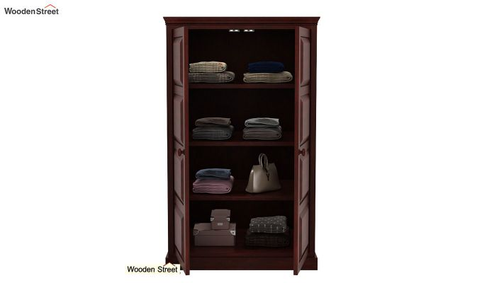 Charles Medium Size Wardrobe (Mahogany Finish)-4