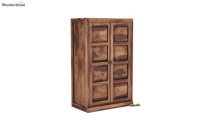 Charles Medium Size Wardrobe (Teak Finish)-2