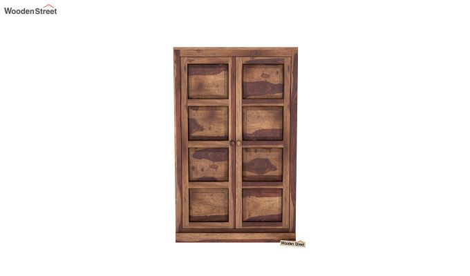 Charles Medium Size Wardrobe (Teak Finish)-3