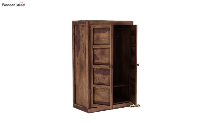 Charles Medium Size Wardrobe (Teak Finish)-4