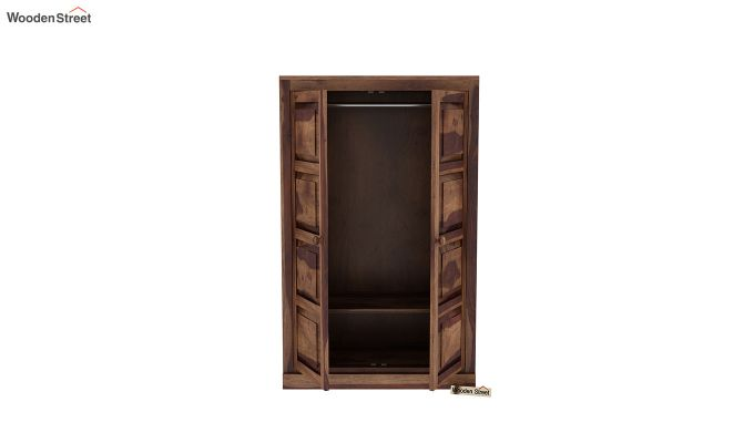 Charles Medium Size Wardrobe (Teak Finish)-5
