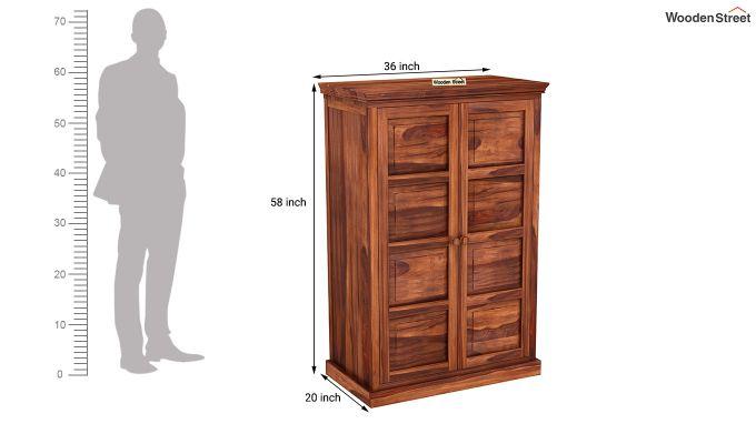 Charles Medium Size Wardrobe (Honey Finish)-6