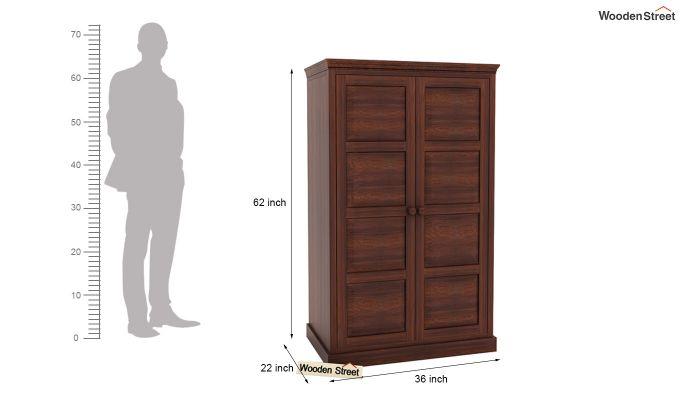 Charles Medium Size Wardrobe (Walnut Finish)-4