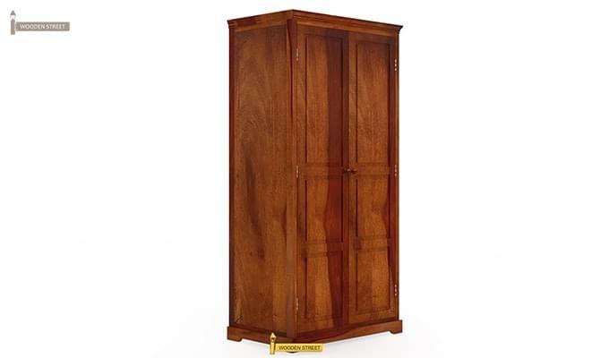 Charles Multi Utility Wardrobe (Honey Finish)-2