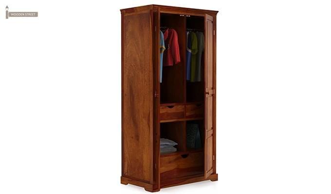 Charles Multi Utility Wardrobe (Honey Finish)-7