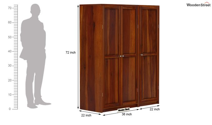 Citroen Multi Utility Wardrobe (Honey Finish)-9