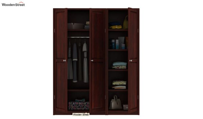 Citroen Multi Utility Wardrobe (Mahogany Finish)-6