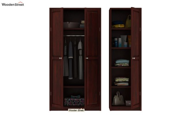 Citroen Multi Utility Wardrobe (Mahogany Finish)-8