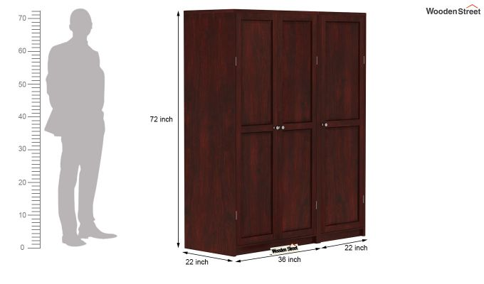 Citroen Multi Utility Wardrobe (Mahogany Finish)-9